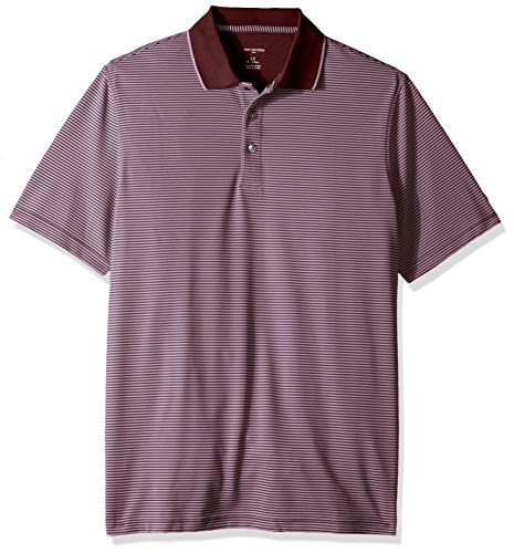 Van Heusen Men's Big and Tall Short Sleeve Air Performance Ottoman Stripe Polo Shirt