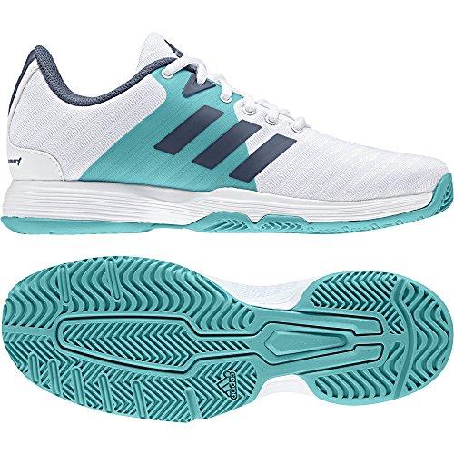 Barricade Chaussures Blanc bleu vert Court blanc foncé Femme adidas