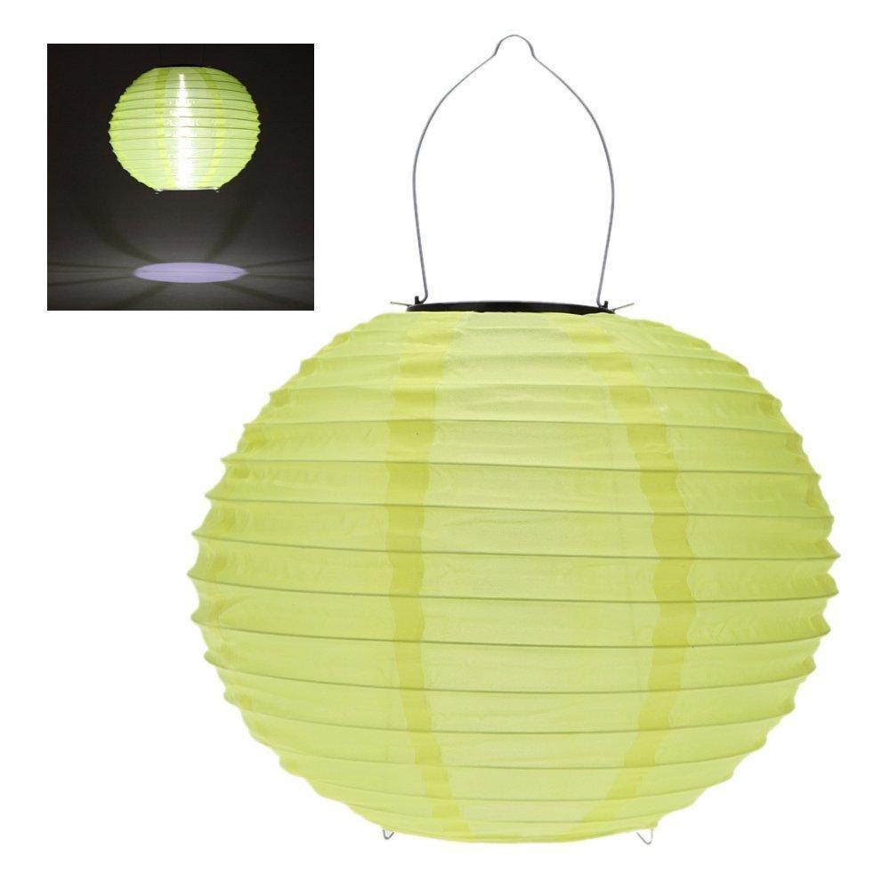 RioRand 1pcs 30CM waterproof solar lantern Solar outdoor hanging lights LED holiday lights hanging lantern Chinese celebration - Yellow