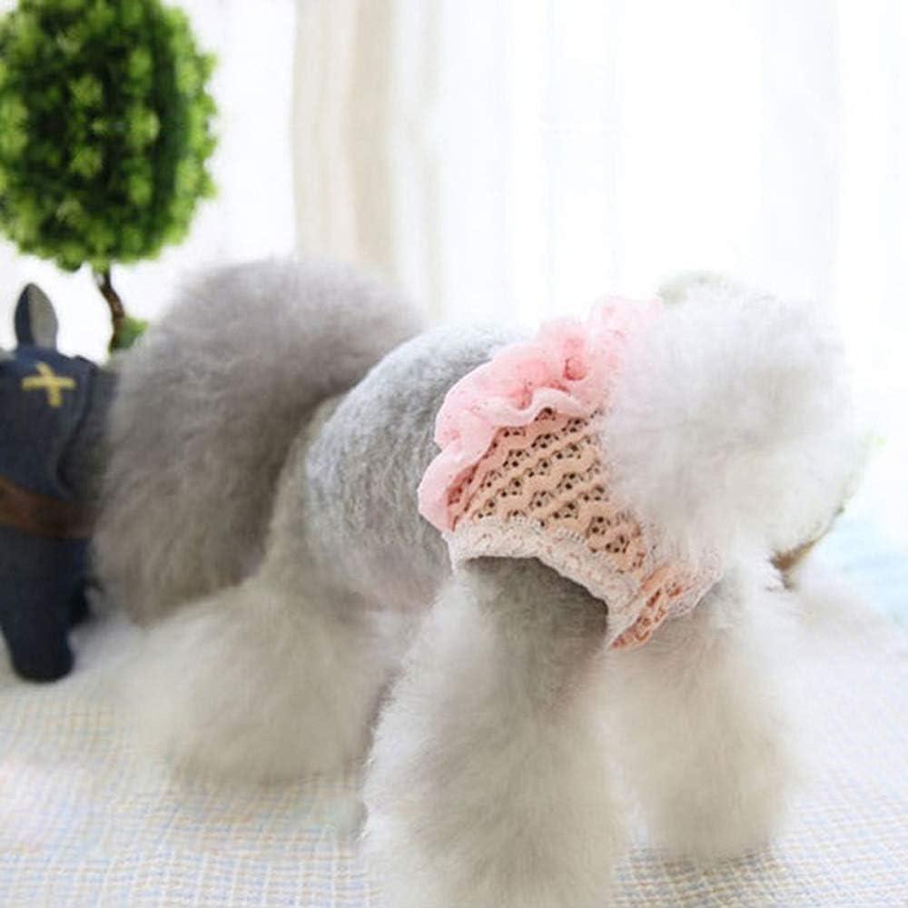 M,Pink Unstopup Cute Clothes Underwear Chiffon Pet Physiological Pants,Multi Color Dog Panties Puppy Diaper Cat Supplies