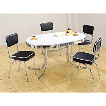 retro dining tables uk table red chairs piece white chrome chair set