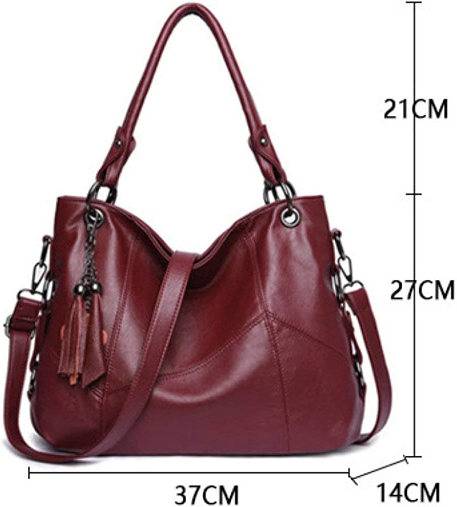 FYH Womens Soft Multi-purpose Classic Purse Leather Leatherette Shoulder Handbag Handbag