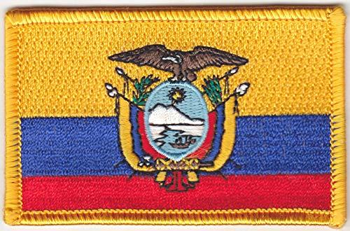 ECUADOR FLAG/Iron On Embroidered Applique Patch/Flag of ()