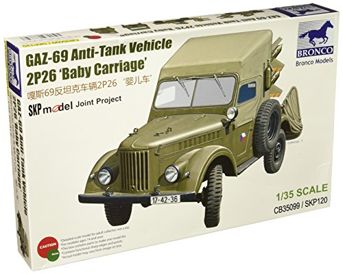 Bronco Models 1/35 Soviet Gaz 69 Anti-Tank Vehicle for sale  Delivered anywhere in USA