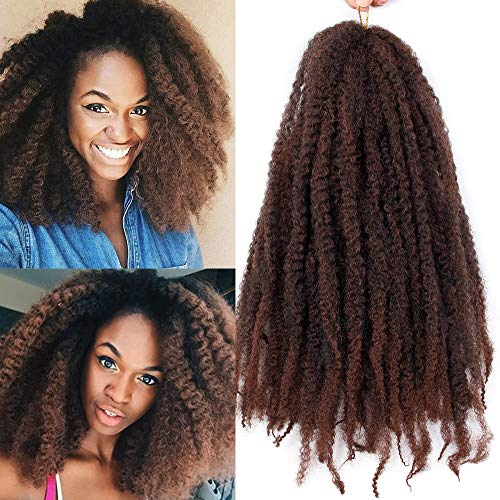 3Pcs/ Lot Marley Braiding Hair Afro Marley Hair Crochet Braids 18Inch Kanekalon African Soft Kinkys Twist Braiding Hair for Black Women(#1B/30)