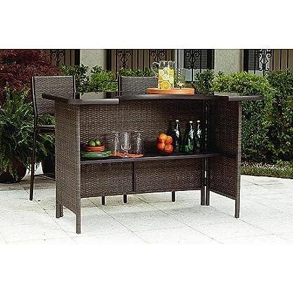 amazon com grand resort 5 piece outdoor bar set this patio