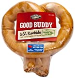 Good Buddy 6 Inches Usa Rawhide Pretzel,(Pack of 3)