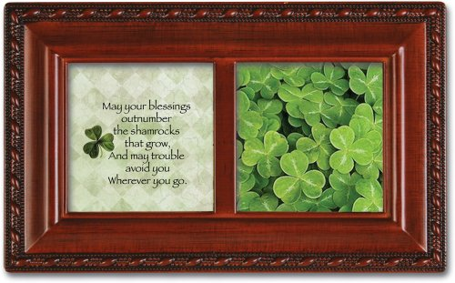 Irish Blessing Petite Woodgrain Music Box Plays