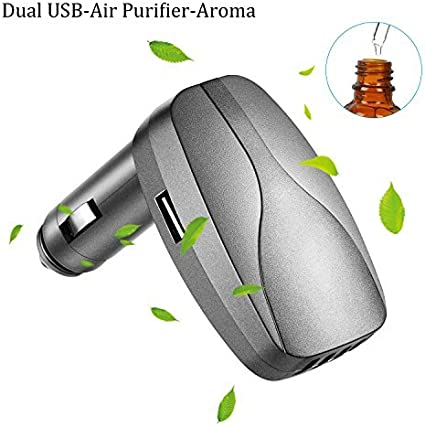 HEPA Ioniser Car Bluetooth Air Purifier Portable Humidifier Oil Aroma Diffuser Q