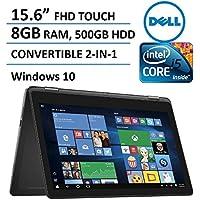 2016 Dell Inspiron 15 7000 Series 2-in-1 Convertible Laptop / Tablet, 15.6-inch Full HD Touchscreen (1920 x 1080), Intel Core i5-6200U, 8GB DDR3L, 500GB HDD, HDMI, Backlit Keyboard, Windows 10