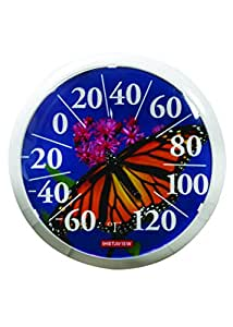"""Russco III GD136930 Wall Thermometer, 13.5"""", Butterfly"""