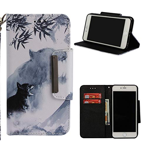 Cheap iPhone 6S Case, iPhone 6 Case, Love Sound Large Buckle Design [Wrist Strap] [Stand Feature] [Card/Cash Slots] PU Leather Wallet Flip Protective Case Cover for Apple iPhone 6/6S – Tiger