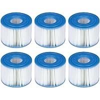 WuYan 6 Pack Zwembad Filters voor Intex PureSpa Type S1 Cartridge voor 29001E PureSpa Opblaasbaar Zwembad Filter…