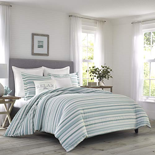Tommy Bahama Clearwater Cay Comforter Set, Queen, Blue (Tommy Sets Bedding)