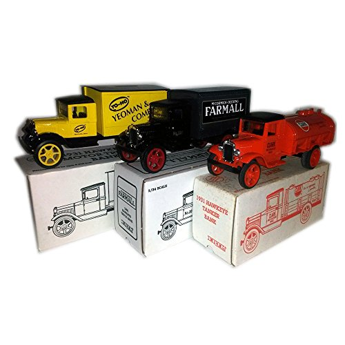 (1990's ERTL Die-Cast Collectible Truck Coin Banks No. B383, No. 232, No. 3726 Collector's Bundle)