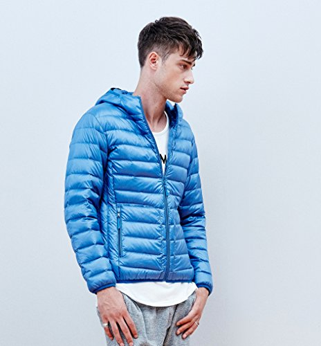 Bosideng Padded Insulated Walking Ultra Showerproof Warm Light Men Blue Jacket Hiking Down Hoody Cobalt rTrqYU