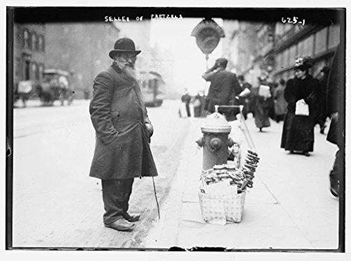 13 x 19 Vintage Photo of:Pretzel vendor 6th Ave. New - York 6th New Ave