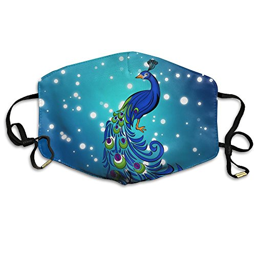 Peacock Clipart Reusable Anti Dust Face Mouth Cover Mask,Warm Windproof Mask -