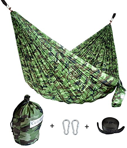 Double And Single Nest Parachute Camping Hammock With Tree