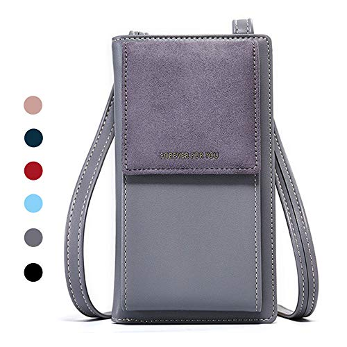 Black Sale Friday Deals Womens Purse Cellphone Holster Wallet Case Card Slot Phone Bag Small Leather Crossbody Shoulder Tote Handbag Pouch for iPhone 11 Pro Xs Max X Xr 8 7/6 Plus Samsung S10 Plus