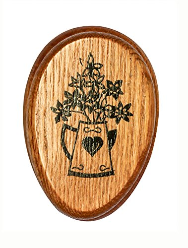 Amish Towel PITCHERofFLOWERS Magic Marble Holder Oak hardwood ()