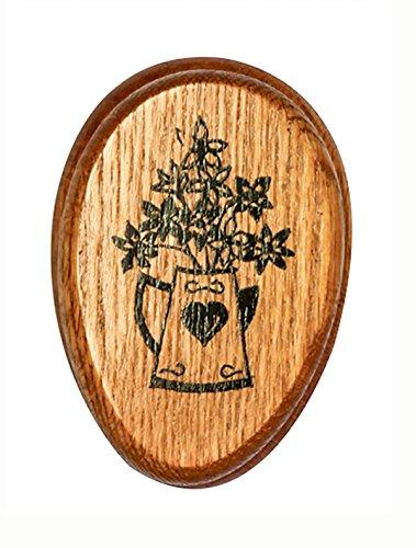 Amish Towel PITCHERofFLOWERS Magic Marble Holder Oak hardwood