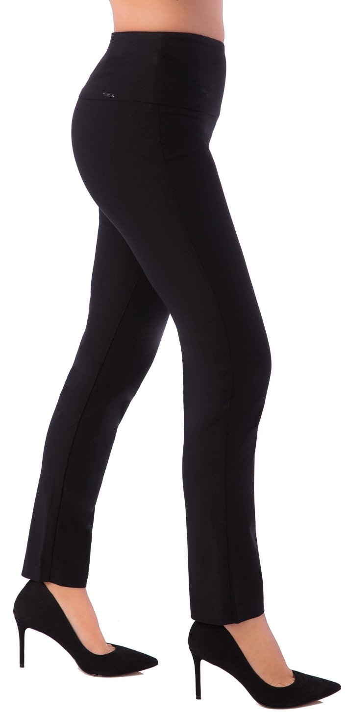 UP! Pants UP Womens Slim Ankle Flatten and Flatter Style 64457 Illusion Waistband Size 2 Color Black by UP! Pants (Image #1)