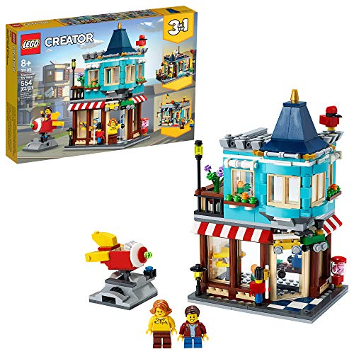 LEGO Creator 3in1 Townhouse Toy Store 31105, Cool Buildable Toy for Kids Building Kit, New 2020 (554 Pieces)
