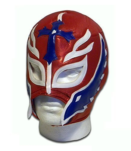 Son of the Devil adult luchador mexican wrestler wrestling mask red by WRESTLING MASKS UK by Wrestling