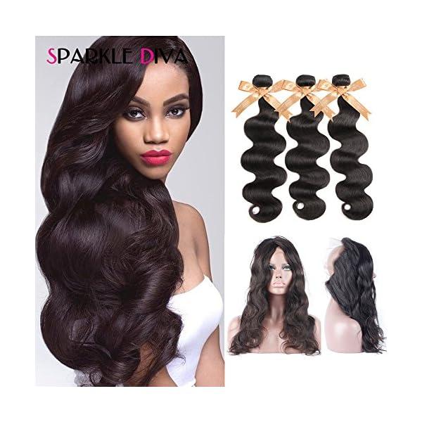 Sparkle Diva 8a Brazilian Body Wave Hair Weaving Pre Plucked 360