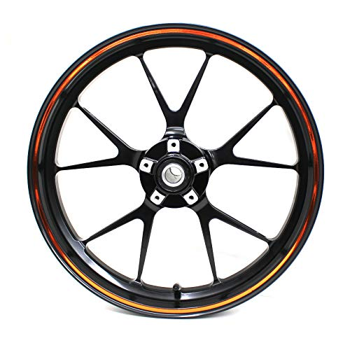 Edge Rim (Rim Edge Sticker Chrom Line Finest Folia - Complete Set - Wheel Rim Design incl. Rim Well Tool - Fits 17 inch & 16