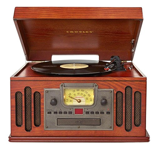 Crosley Musician Turntable with Radio, CD Player, Cassette and Aux-in 4