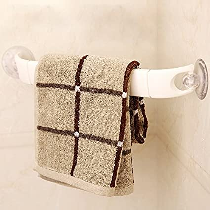 Sursy La succión fuerte baño toalla, toallero, toallero de plástico largo 15cm *,