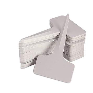 KINGLAKE 100Stk. Mini T-Form Plastik Pflanzenstecker Stecketiketten Beschriften Pflanzschilder Schilder 6CM * 10CM Sind Prakt