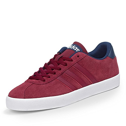 adidas Herren Court VULC Low-Top, Rot Rot (Buruni / Buruni / Maruni)