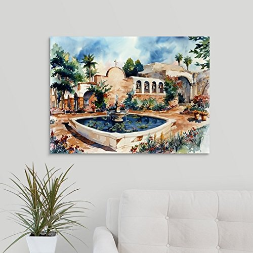 greatBIGcanvas Gallery-Wrapped Canvas entitled Mission San Juan Capistrano by Bill Drysdale 30''x22''