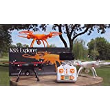 21 FPV Jumbo WiFi Quad-copter Drone with AUTO Take off/Landing - AUTO Hover - ONE Key Return Home - VR Goggles-4CH 2.4G WiFi Drone with HD 2.0MP camera & Wifi ,VR Goggle and Extra Battery