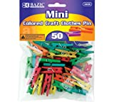BAZIC Mini Colored Clothes Pin (50/Pack)