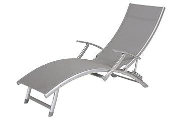 chaise longue reglable accoudoir