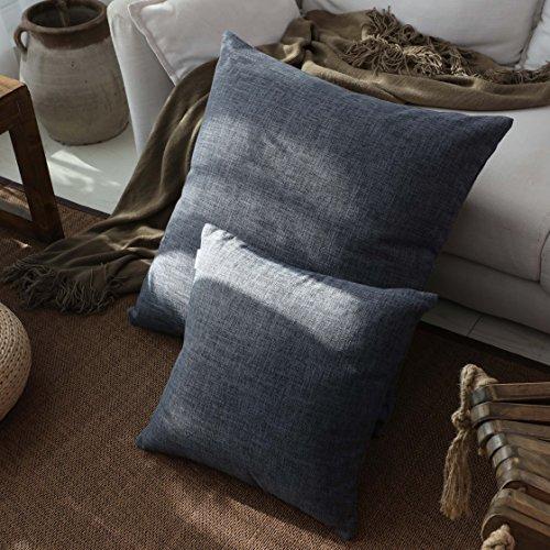 Kevin Textile Decoration Linen Pillow Cover Burlap Decor Squ