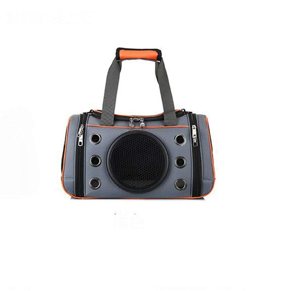 orange A 41×25×24cmCOOINSCBXL Pet bag pet handbag breathable portable dog out diagonal folding bag, 41 × 25 × 24cm, orange A