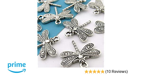 Free shipping retro style Little dragonfly alloy charms pendants 16*20mm