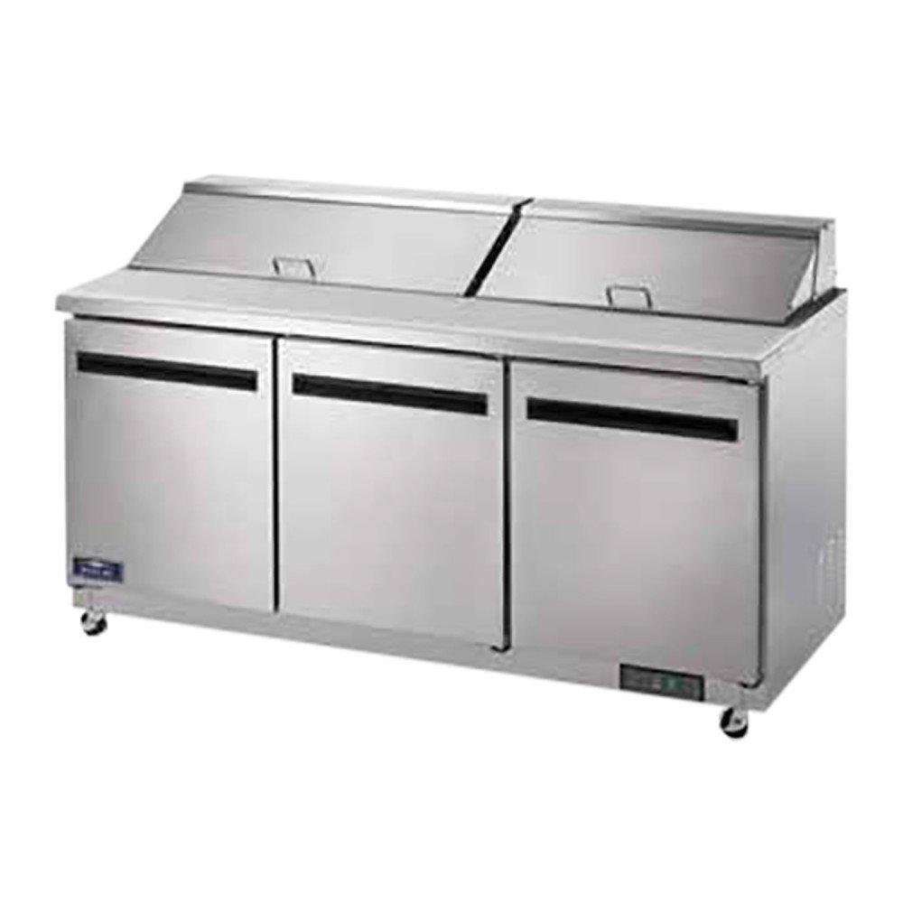 Arctic Air AST72R 72'' 3 Door Refrigerated Sandwich Prep Table