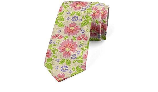 Mathillda Corbata para hombres, hojas de flores femeninas, verde ...