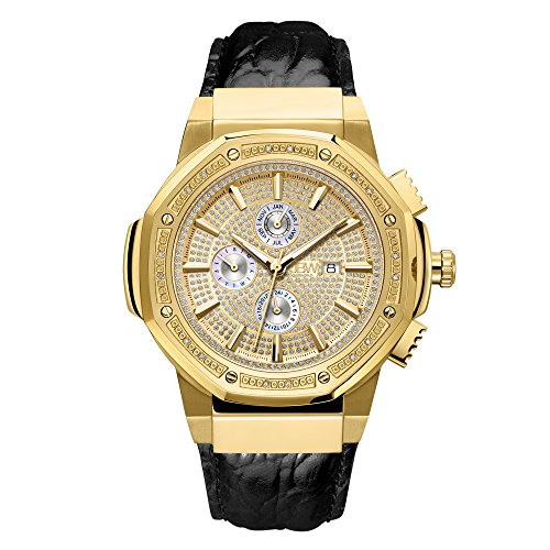 - JBW Men's 10-Year Anniversary Saxon 0.16 ctw Diamond Wrist Watch with Leather Bracelet