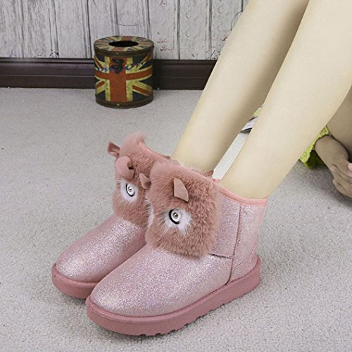 Ankle Boots Pink Women's Snow Casual Warm Egmy Winter Boots Clearance Winter Pink Shoes anpAqw0