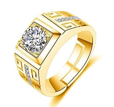 815e6e3235e343 Dc Jewels 24Kt Gold Swarovski Crystal Adjustable Mens Rings: Amazon.in:  Jewellery