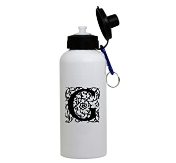 Amazon g decorated initial monogram personalized letter g quotg quot decorated initial monogram personalized letter g aluminum water bottle altavistaventures Images