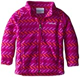 Columbia Baby Girls' Benton Springs II Fleece, Tango Pink Chevron, 12-18 Months