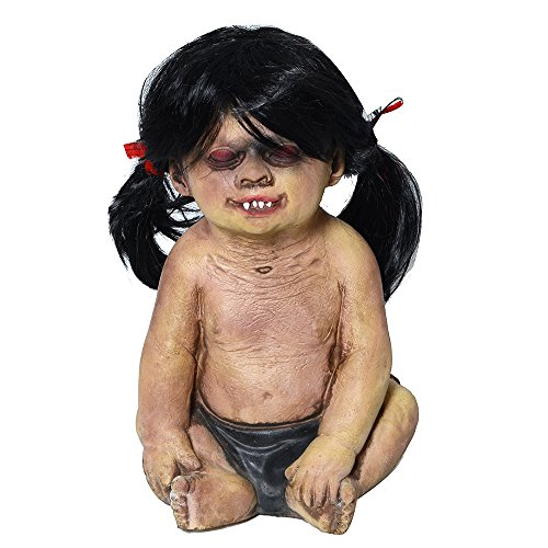 Zombie Baby Halloween Costumes (Halloween Decorations Evil Baby Zombie Baby Haunted Doll Halloween Toy, High Quality Latex, Clear Face, Vivid Look, Halloween Party Assessory, Halloween Props (Girl))